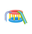 inflatable slide attraction with jumps for vector image vector image