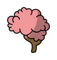 isolated abstract brain icon vector image vector image