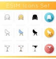 living room furnishing icons set vector image vector image