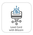 load card with bitcoin icon vector image vector image