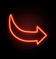 Neon glowing arrow pointer