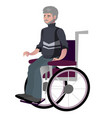 old man grandfather disabled in wheelchair vector image