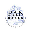 pancakes logo original design retro emblem for vector image vector image