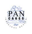 pancakes logo original design retro emblem vector image vector image
