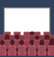 people cinema theater vector image