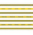 police tape do not cross ribbon barrier warning vector image