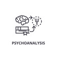 psychoanalysis thin line icon sign symbol vector image vector image