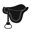 Saddle icon in black style isolated on white vector image vector image