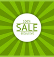 sale label on green background vector image vector image