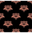 Seamless pattern with pink floral elements vector image vector image