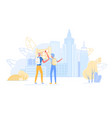 senior tourist characters watch map in abroad trip vector image vector image