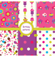 Set of birthday patterns vector image vector image