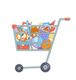 shopping cart preparation education colladge vector image vector image