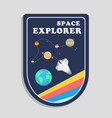 space explorer earth rocket flying in space backgr vector image