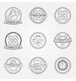 Sports and fitness logo emblem graphics set vector image