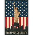 statue liberty in new york vector image vector image