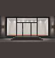 storefront empty illuminated showroom vector image vector image