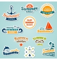 Summer element sticker vector image