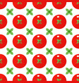 tomatoes seamless pattern in flat style on a white vector image