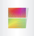 two fresh color abstract business card templates vector image