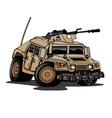 us military humvee cartoon vector image vector image