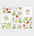 vegan food banner natural organic healthy vector image vector image