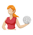 voleyball player cartoon vector image vector image