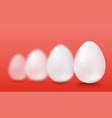 white eggs vector image vector image