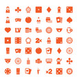49 casino icons vector image vector image