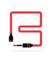 alphabet b letter logo formed jack cable vector image vector image