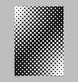 Balck and white halftone dot pattern flyer vector image
