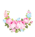 blooming rose garland vector image vector image