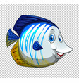 blue fish on transparent background vector image vector image