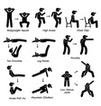 body workout exercise fitness training set 2 vector image vector image