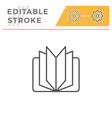book editable stroke line icon vector image vector image