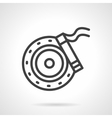 Brake disc simple line icon vector image