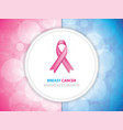 breast cancer vector image vector image