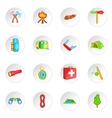 Camping icons set cartoon style vector image vector image