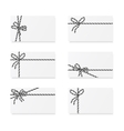 Card notes with gift bows vector image vector image