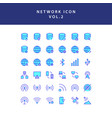 cloud computing network filled outline icon set vector image vector image