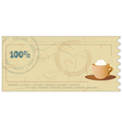 coffee coupon vector image