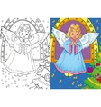 Coloring Book Of Christmas Angel vector image vector image