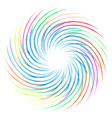 colourful swirl vector image vector image