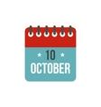 Columbus Day calendar 10 october icon vector image