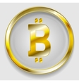Crypto currency golden icon bitcoin design vector image