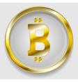 Crypto currency golden icon bitcoin design vector image vector image