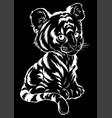 cute batiger lies vector image