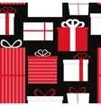 Different Gift Box Seamless Pattern Background vector image vector image