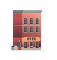 downtown building with shop or store isolated on vector image vector image