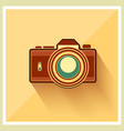 DSLR Professional Camera Retro Icon vector image vector image